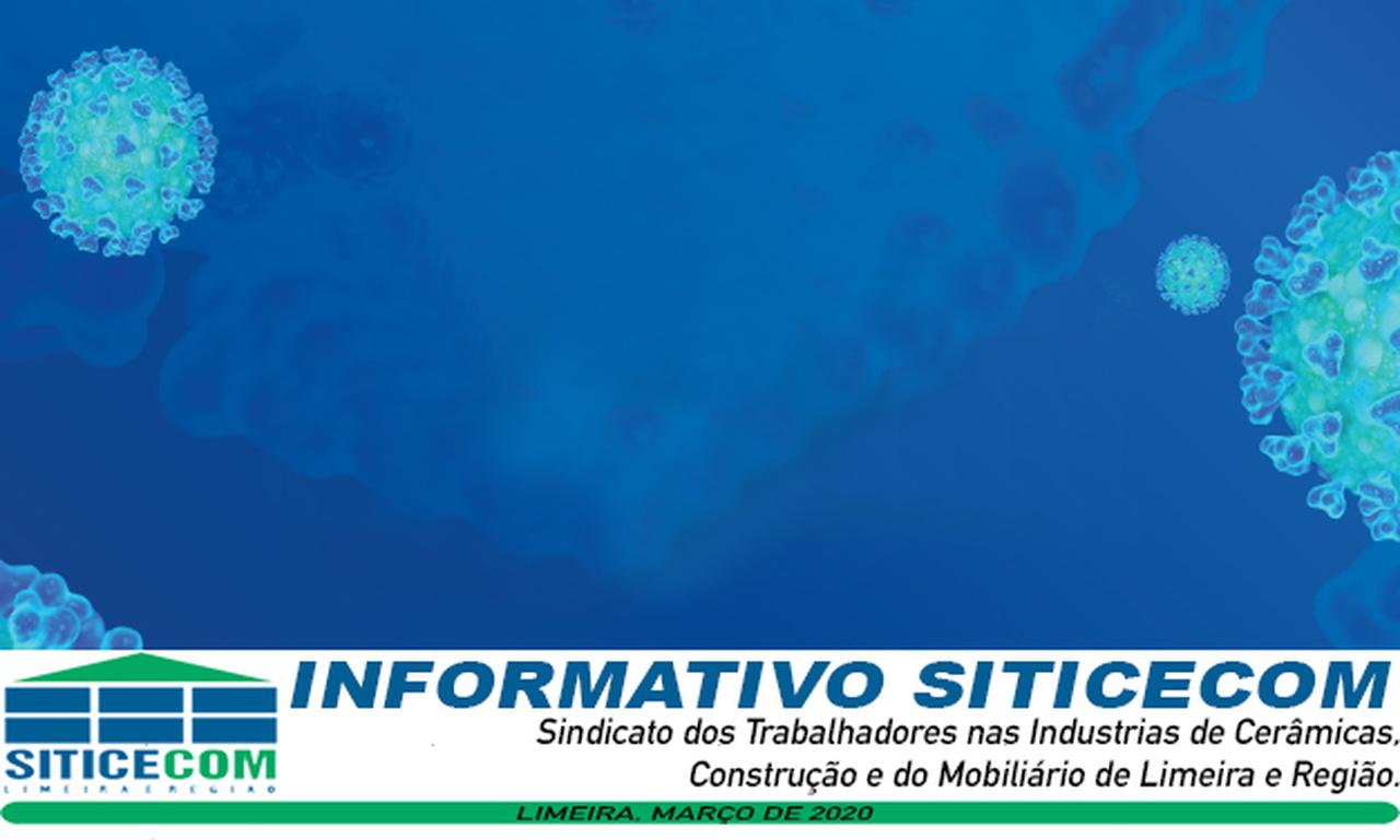 SITICECOM comunica a suspensão das suas atividades, na sede e subsedes. Para maiores informações, segue comunicado abaixo:
