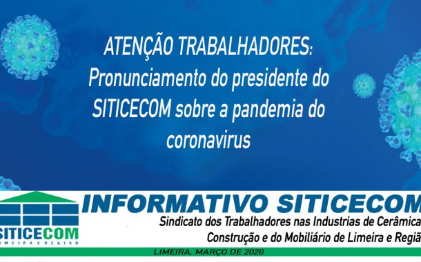 Pronunciamento do Presidente do SITICECOM