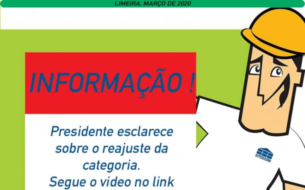 Presidente do SITICECOM esclarece sobre reajuste da categoria.